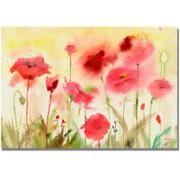 """Trademark Art """"Poppy Field"""" Canvas Wall Art by Shelia Golden"""