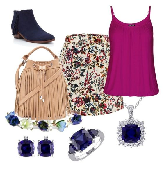 """""""Deep Blue and Romance"""" by ares-and-aphrodite on Polyvore featuring City Chic, H&M, Miadora, Sam Edelman and Forever 21"""