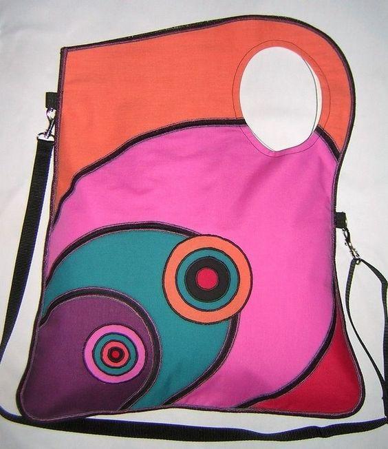 Яркие лоскутные сумки с аппликацией. Комментарии : LiveInternet - Российский Сервис Онлайн-Дневников