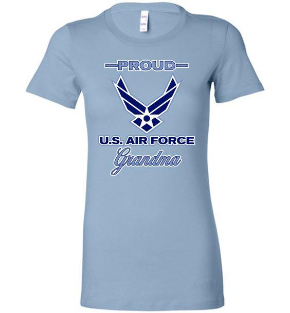 Proud U.S. Air Force Grandma Bella Ladies Favorite Tee