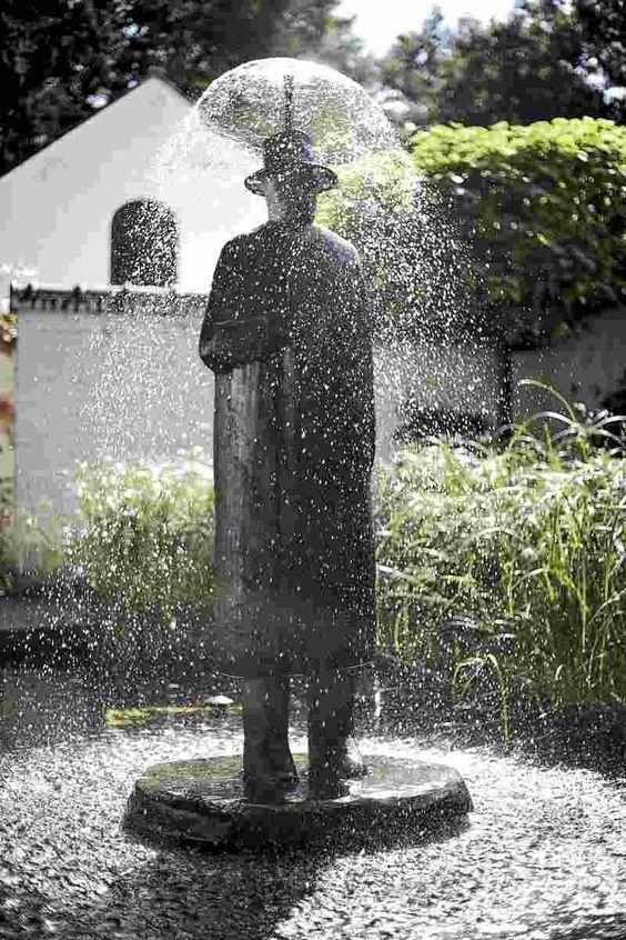 El hombre que hacía llover.  Folon, la pluie
