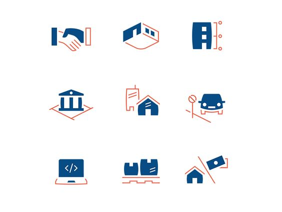 Chancellery Icon Family by Oliver Rothenhäusler #glyph #twocolored #icondesign