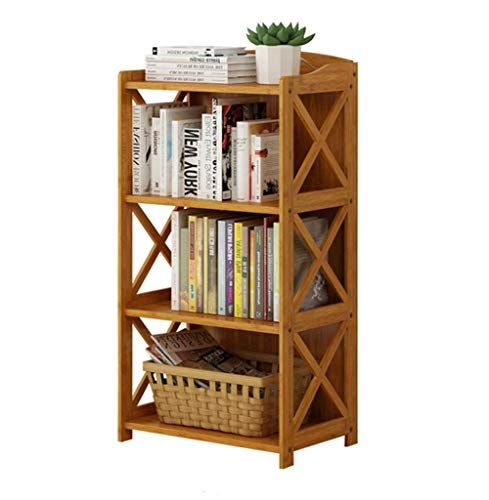 Bixiangjim Simple Bookshelf Shelf Solidfloor Bamboo Storage Shelf Table Bookcase Fashion Ideas Size 50 X 29 X With Images Simple Bookshelf Solid Wood Flooring Bookcase