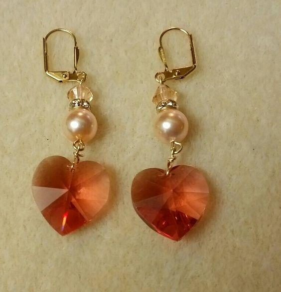 Crystals & Pearl earrings