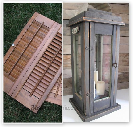 Lantern diy, upcycled from old shutters: