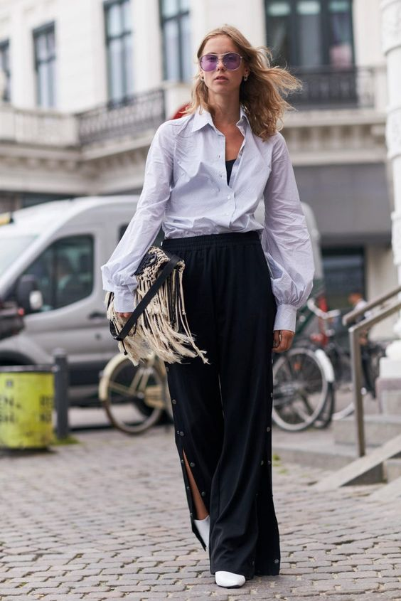 Eyewear Trends Spotted at Copenhagen Fashion Week Spring 2018 Influencer Street Style 90s Oval White Sunglasses Cateye