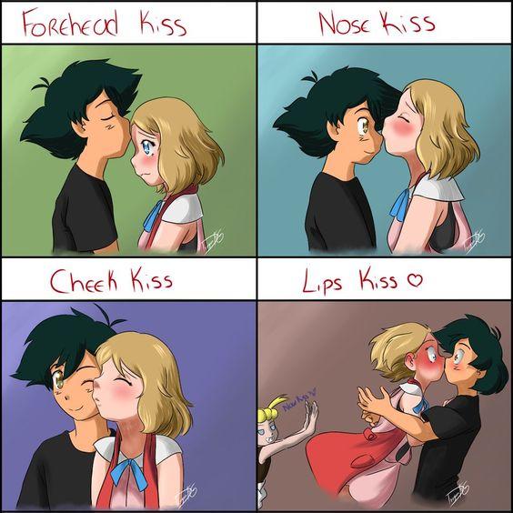 Kiss Meme Satosere Amourshipping By Dragonfg28 On Deviantart покемоны Pinterest Haha Art
