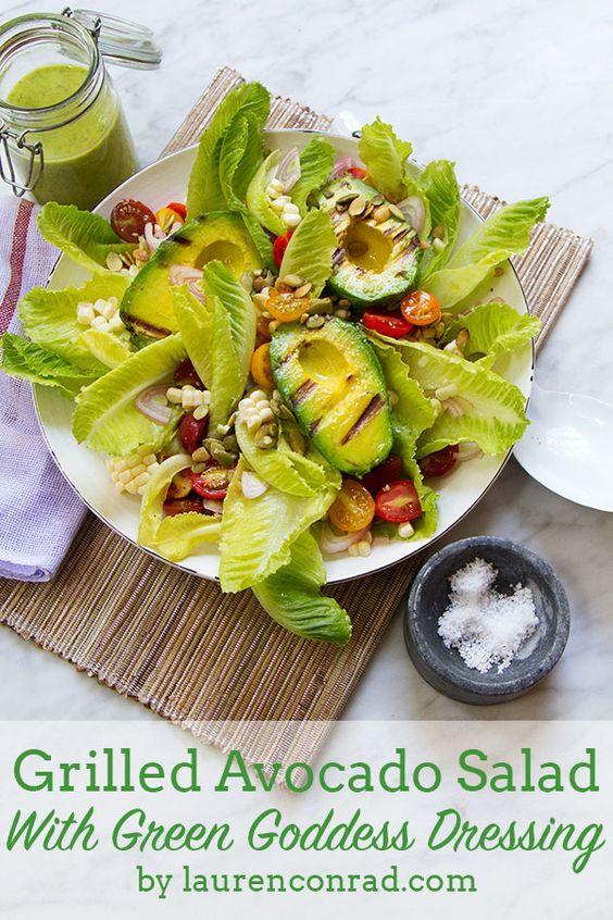 Green goddess dressing, Green goddess and Avocado salads on Pinterest