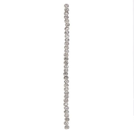 "7"" Strand Acrylic Glitter Beads, Silver, 5 x 7mm"