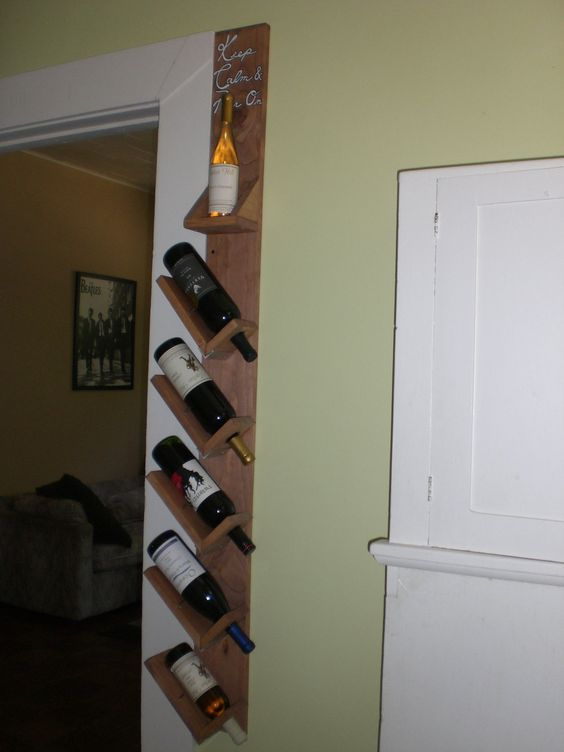 Wall hanging wine rack hanging wine rack and wood walls Hanging wooden wine rack