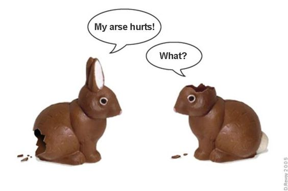 HAPPY EASTER! Think of the bunnies.