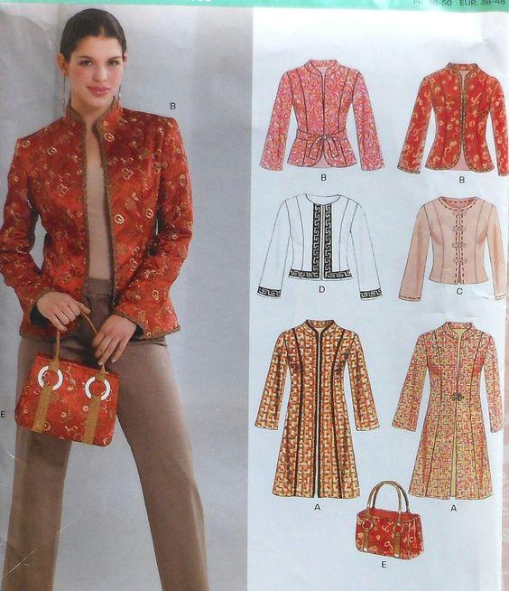 Long and Short Jacket Sewing Pattern UNCUT New by latenightcoffee