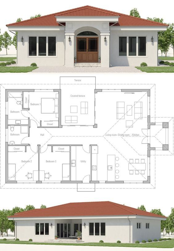 Small House Plans Home Plans New Homes Floor Plans Smallhouseplans Newhomes Concepthome Arc House Plan Gallery House Construction Plan Model House Plan