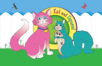 FREEBIE - Kat and Squirrel Bulletin Board Art