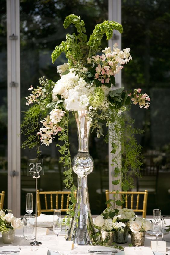 Latour trumpet vase with greenery article tall flower