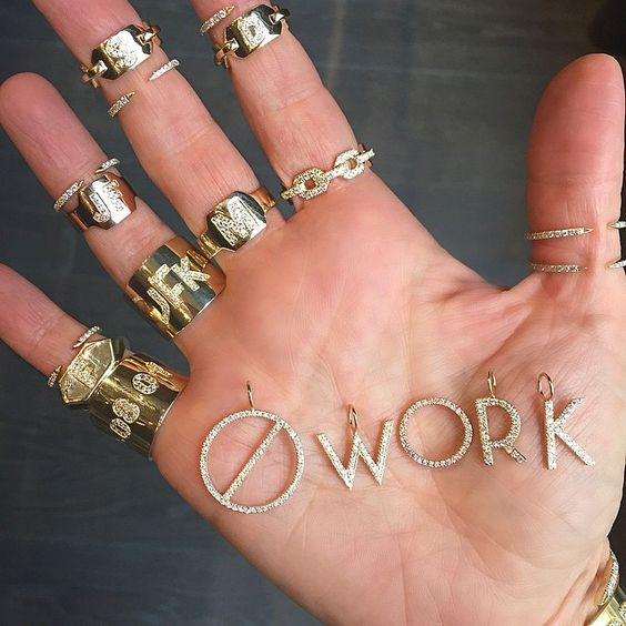 WORK #weekend #nowork #charms #jenniferfisher