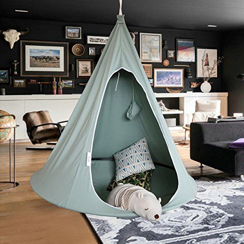 Amazon Com Panda Pod Hanging Hammock Chair Tent Pod For Indoor And Outdoor Use Single Use Rope An Hanging Hammock Chair Tent Kids Room Kids Hammock Chair