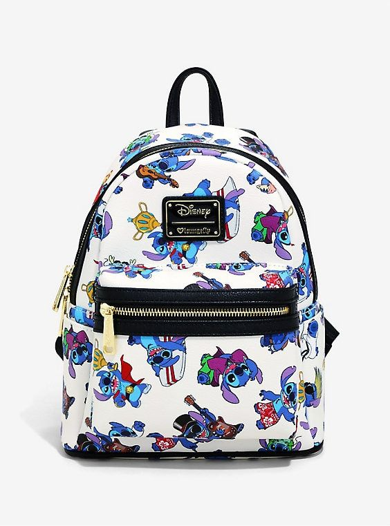 Loungefly Disney Lilo /& Stitch Galaxy Backpack Zipper w// Inside Laptop Pouch