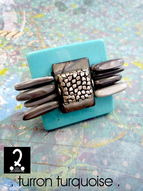 Truffle rings collection  Turron Turquoise by DosPuntosAccessories, $22.00