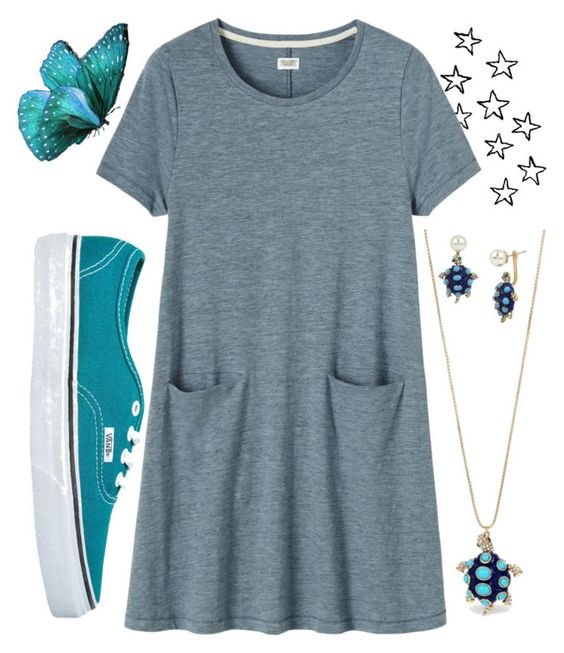 """Butterfly"" by georginazandri on Polyvore featuring moda, Vans, Toast, Betsey Johnson, casual, pretty y summerstyle"