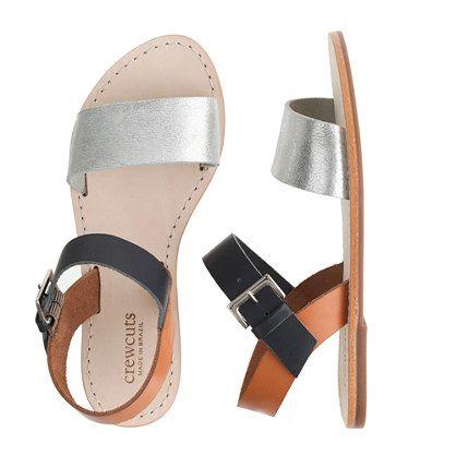 Girls' colorblock sandals - flip-flops  sandals - Girl's shoes - J.Crew
