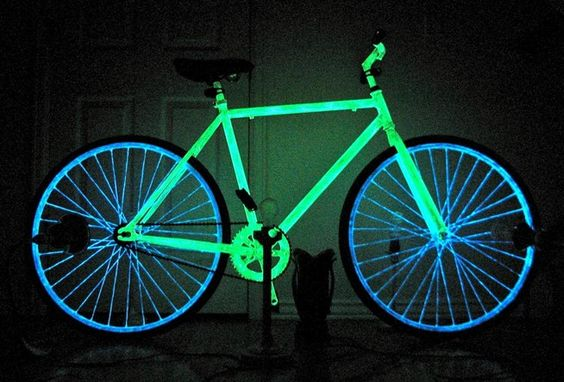 Make Your Night Bike Glow in the Dark with Phosphorescent Paint « Bicycle