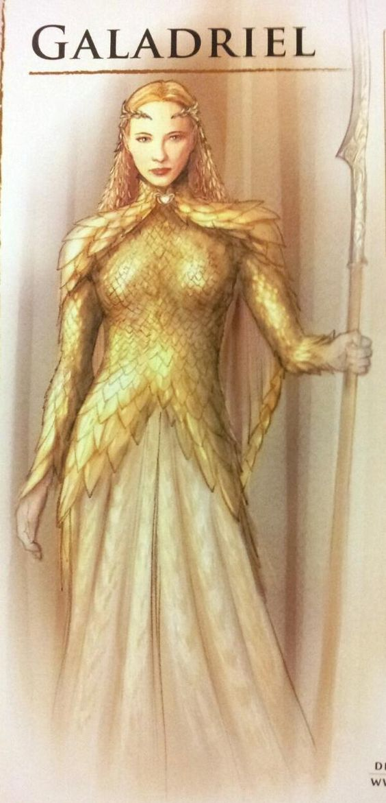 Galadriel in armor - concept art - The Hobbit - Battle of the Five Amies:
