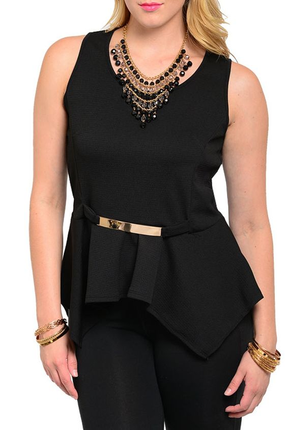 DHStyles Women's Black Plus Size Demure Key-Hole Back Peplum Top With Belt #sexytops #clubclothes #sexydresses #fashionablesexydress #sexyshirts #sexyclothes #cocktaildresses #clubwear #cheapsexydresses #clubdresses #cheaptops #partytops #partydress #haltertops #cocktaildresses #partydresses #minidress #nightclubclothes #hotfashion #juniorsclothing #cocktaildress #glamclothing #sexytop #womensclothes #clubbingclothes #juniorsclothes #juniorclothes #trendyclothing #minidresses #sexyclothing…