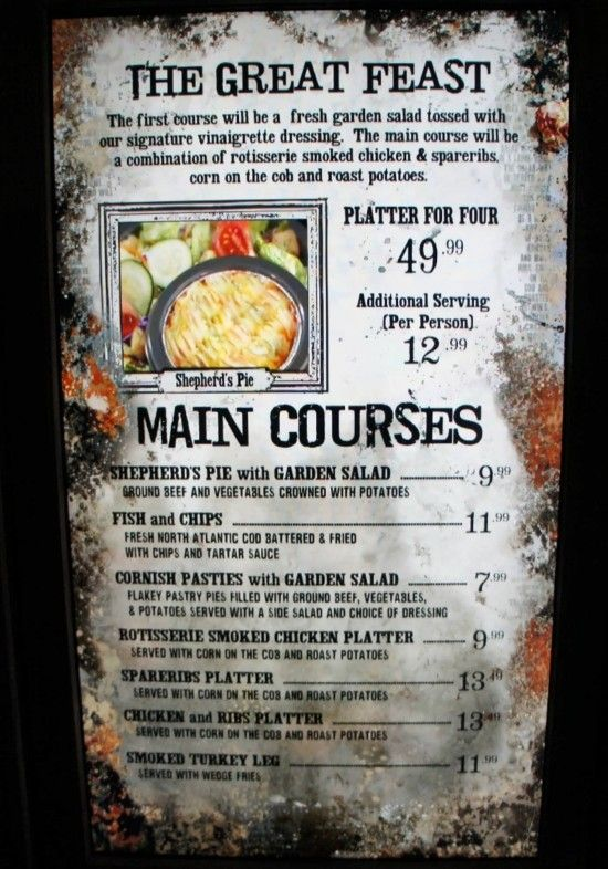 SEATING FOR 20? -CC Three Broomsticks at Universal's ...