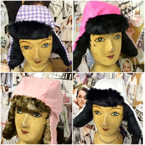 #faux #fur hats stitched by our students