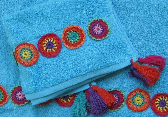 Toalhas turcas e crochet: