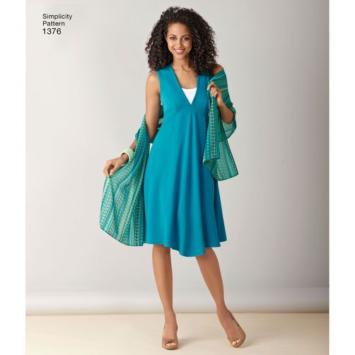 Simplicity Pattern 1376 Misses' & Plus Size Jacket, Top, Dress & Leggings: