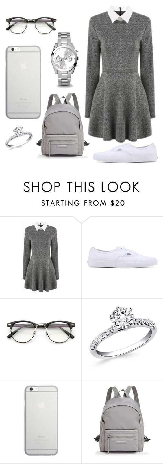 """""""Untitled #5"""" by explorer-14598665521 ❤ liked on Polyvore featuring beauty, Vans, Native Union, Longchamp and FOSSIL"""