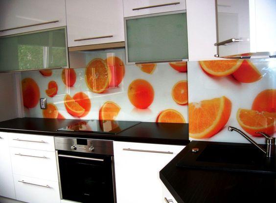 Panele szklane do kuchni owoce pomarańczki backsplash pl