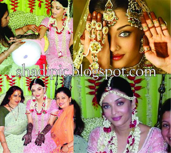 Aishwarya rai honeymoon aishwarya rai wedding mehndi for Aishwarya rai in her wedding dress