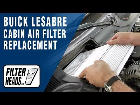 14 How To Replace Cabin Air Filter Buick Lesabre Youtube Buick Lesabre Air Filter Buick