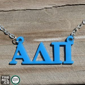 Alpha Delta Pi Greek Licensed Floating Letters Necklace by TheMCL.co http://mycapitalletters.com