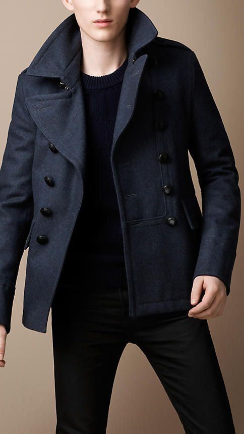 Burberry - Military Pea Coat | Total Look | Pinterest | Coats ...