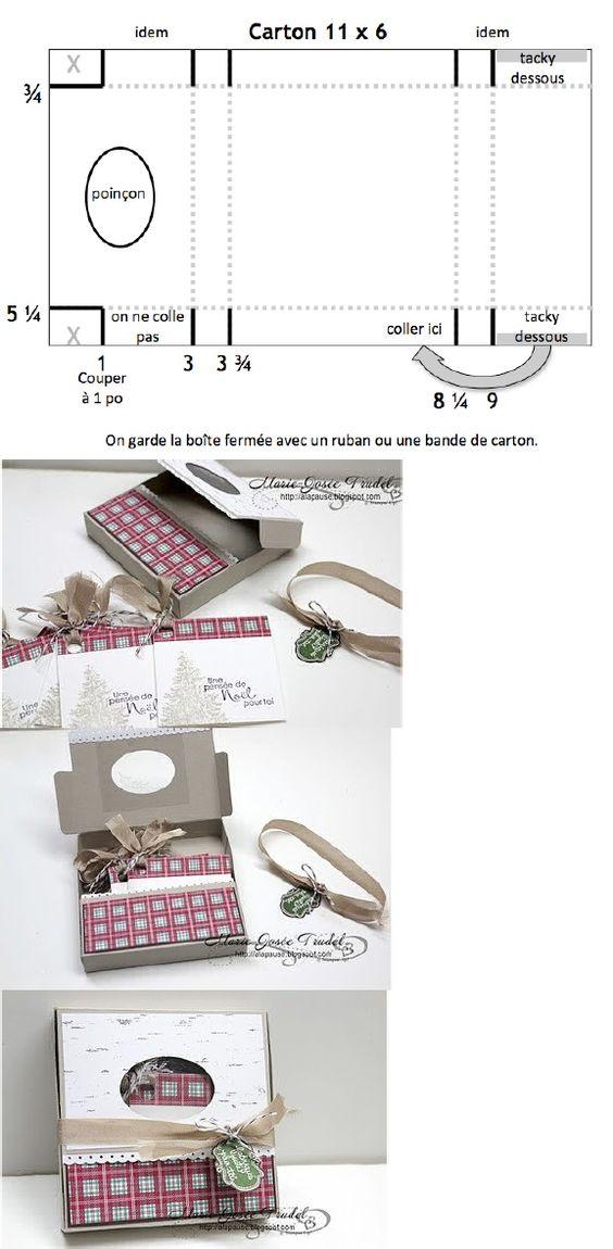 Guckloch-Schachtel von Maire-Josée Trudel inkl. Vorlage