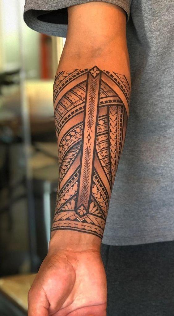 Arm tribal mann tattoo 16+ Armband