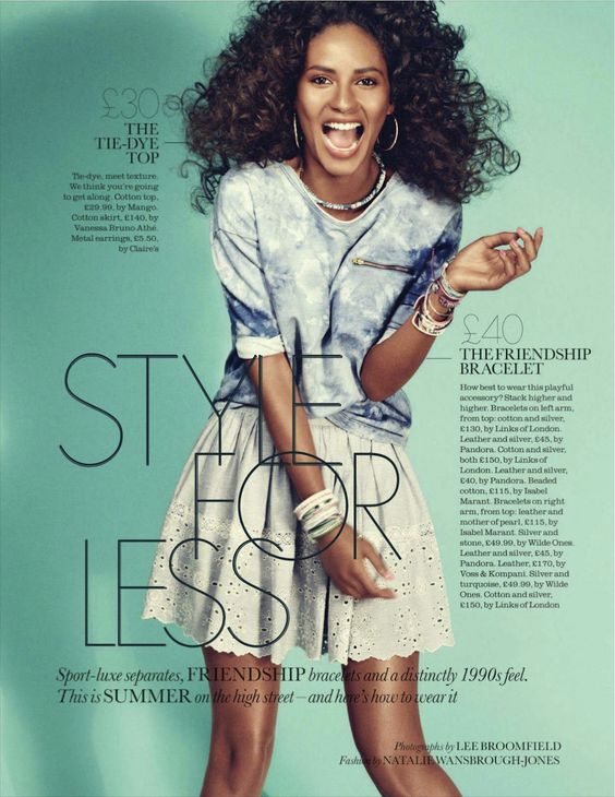 Style For Less | Emanuela de Paula | Lee Broomfield #photography | Elle UK June 2012