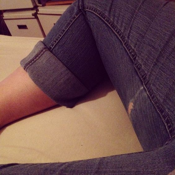 Curvy girl problems, thighs that rub and wreck your jeans #curvygirlproblem #dammit #jeans #mustgoshopping