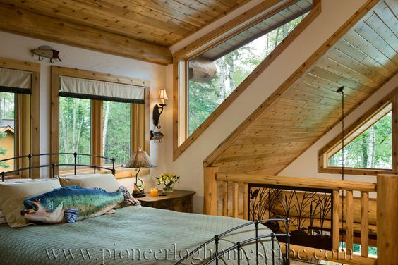Log Home Bathrooms & Bedrooms Design