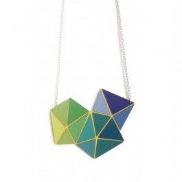 Drei Pyramiden von grün über türkis zu blau...herrliche sommerlich und in knallig bunten Farbverläufen!