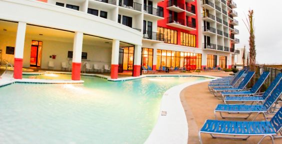 Hampton Inn Suites Beachfront Hotel Located In Orange Beach Gulf Shores Alabama Orange Beach Hotels Beachfront Hotels Hampton Inn