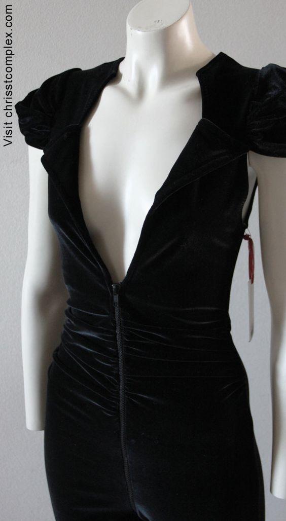 Catsuit Velvet. High gothic velvet Chrisst catsuit. Special Online Price.. $298.00, via Etsy.