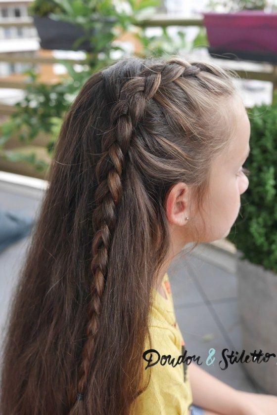 Tuto Coiffure Une Tresse Sur Cheveux Laches Tuto Coiffure Tresse Tuto Coiffure Coiffure Cheveux Mi Long
