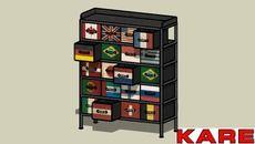 3D Model of KARE 76125 Chest Flags 20 Drawers (Kommode Flags 20 Schübe).skp