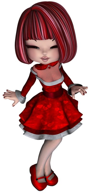 Free cute Christmas animated dolls: