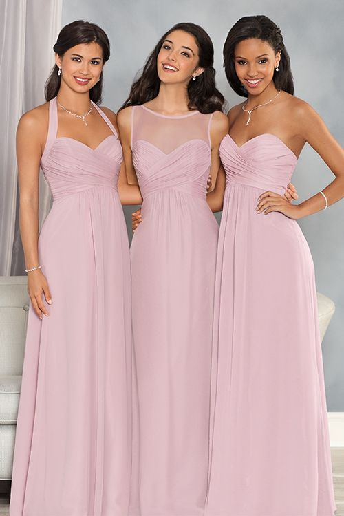 Capture the beauty of each of your maids in these stunning dresses, made especially for them! The Alfred Angelo Collection, starting at $99.
